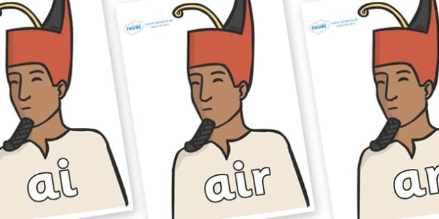 Phase 3 Phonemes on Egyptian Kings - Phonemes, phoneme, Phase 3, Phase three, Foundation, Literacy, Letters and Sounds, DfES, display