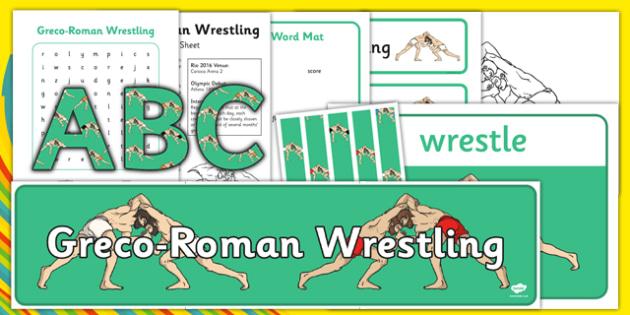 Rio 2016 Olympics Greco-Roman Wrestling Resource Pack - rio 2016, 2016 olympics, rio olympics, greco-roman wrestling, resource pack