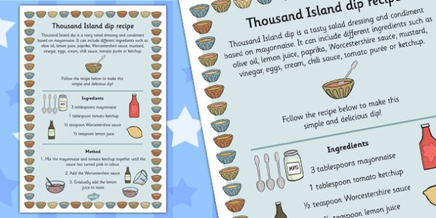 Easy Thousand Island Dip Recipe - thousand island, recipe, dip