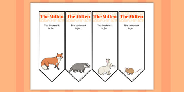 The Mitten Editable Bookmarks - the mitten, story, editable, bookmarks