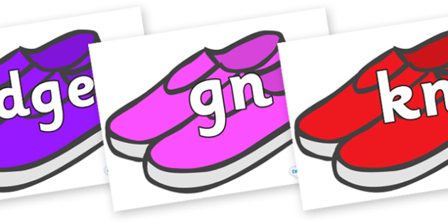 Silent Letters on Shoes - Silent Letters, silent letter, letter blend, consonant, consonants, digraph, trigraph, A-Z letters, literacy, alphabet, letters, alternative sounds