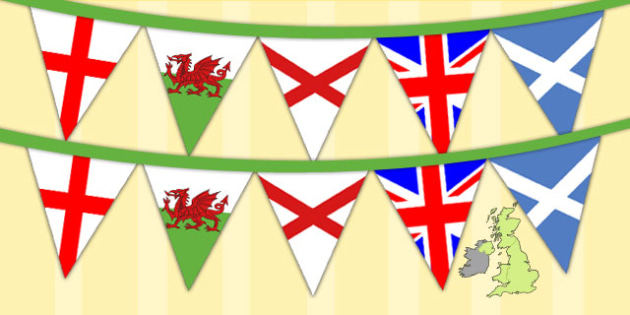 Union Jack Flags Display Bunting - display bunting, union jack
