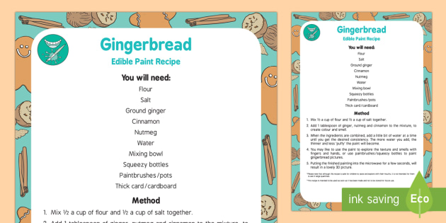 Gingerbread Paint Edible Sensory Recipe - The Gingerbread Man, Traditional Tales, puffy paint, edible, sensory, ginger, Christmas, cinnamon, n