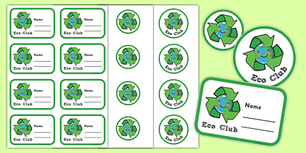 Eco Club Badge Template - eco club, extracurricular, club, badge template
