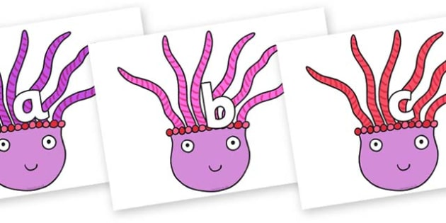 Phase 2 Phonemes on Anemone to Support Teaching on Sharing a Shell - Phonemes, phoneme, Phase 2, Phase two, Foundation, Literacy, Letters and Sounds, DfES, display