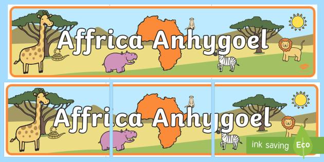 Affrica Anhygoel Baner Arddangosfa - Cymraeg, iaith, Affrica, arddangos, Sypreis Affrica,Welsh