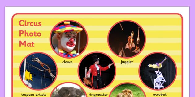 Circus Photo Mat - circus, photo mat, photo, mat, display, words