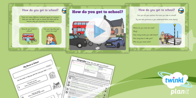Geography: Our School: How Do You Get to School? Year 1 Lesson Pack 5