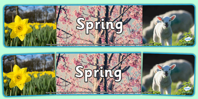 Four Seasons Photo Display Banners Spring - four seasons, spring, display banner, spring display banner, spring banner, photo display banner