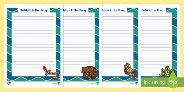 Tiddalick the Frog Poem Writing Template - Aboriginal Dreamtime Stories, Aboriginal Poems, tiddalick the frog, poetry, poem, writing template, writing
