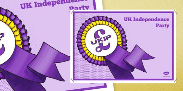United Kingdom Political UK Independence Party Display Poster - british values, politics, uk