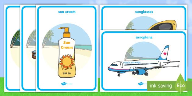 Summer Display Posters - Summer, display poster, A4, display, holiday, holidays,  seasons, beach, sun, flowers, ice cream, sea, seaside