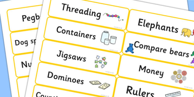 Numeracy Labels - maths, math, signs, label, display, tray labels