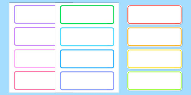 Editable Drawer - Peg - Name Labels (Blank) - Classroom Label