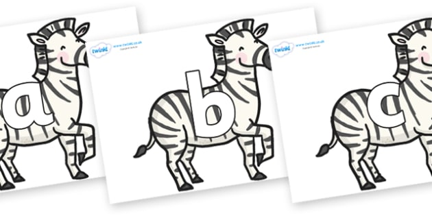 Phoneme Set on Zebras - Phoneme set, phonemes, phoneme, Letters and Sounds, DfES, display, Phase 1, Phase 2, Phase 3, Phase 5, Foundation, Literacy