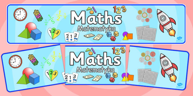 Maths Display Banner Polish Translation - title, information, working wall, display, KS1, Key stage 1