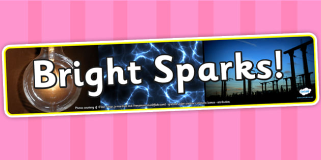 Bright Sparks Photo Display Banner - science, IPC, banner