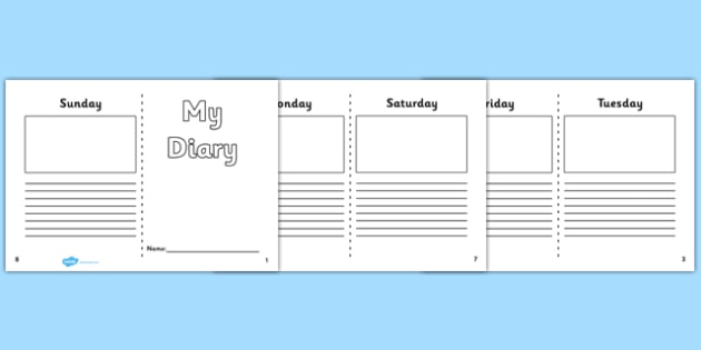 7 Day Diary Writing Frame 7 day diary writing frame diary – Diary Paper Template