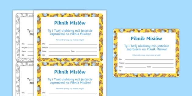 Zaproszenie Piknik Misiów po polsku