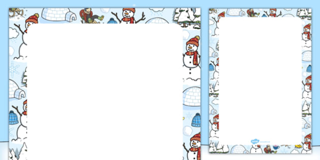 Winter Themed Editable Display Poster - winter, editable, display poster, display, poster