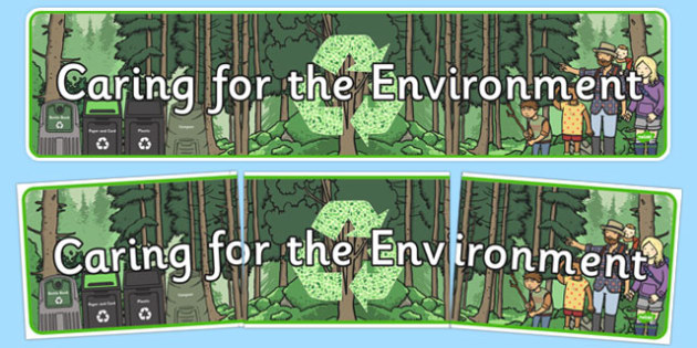 Caring for the Environment Display Banner Recycle Display Banner - Recycle