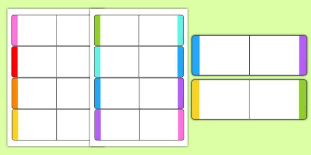 Editable Colour Loop Card Templates - loop cards, cards, colours