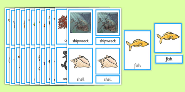 Under the Sea Three Part Cards