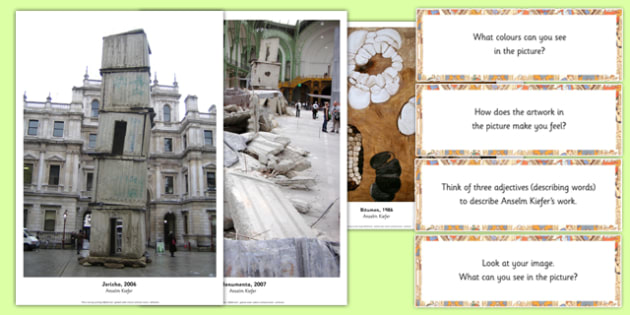 Anselm Kiefer Photopack and Prompt Questions - anselm kiefer, photopack, prompt, questions