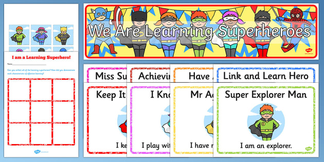 Ready Made Superhero Themed Characteristics Effective Learn Pack