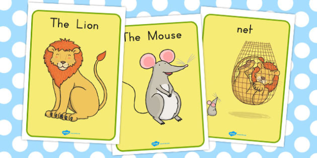 The Lion and the Mouse Display Posters - australia, display
