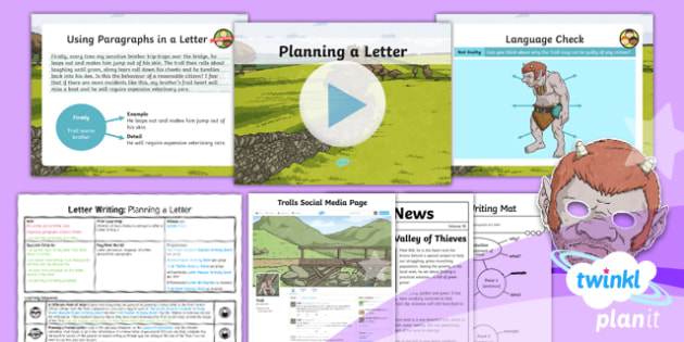 PlanIt Y4 Traditional Tales: The Three Billy Goats Gruff Lesson Pack Letter Writing (2)