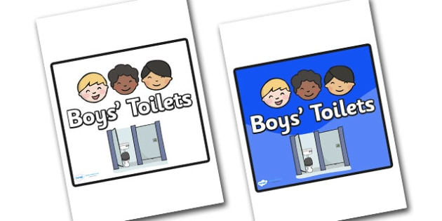 Boys Toilets Area Sign - sign, display sign, area display sign, area sign, area, classroom areas, school areas, classroom area signs, topic signs, topic area signs