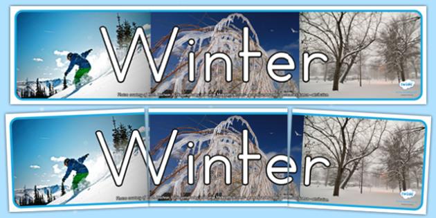 Four Seasons Photo Display Banner Winter - seasons, winter