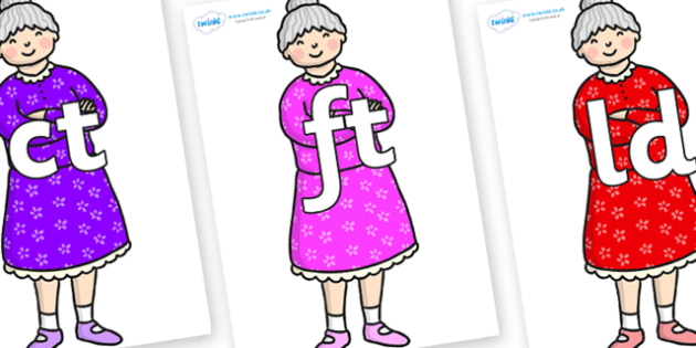 Final Letter Blends on Enormous Turnip Old Woman - Final Letters, final letter, letter blend, letter blends, consonant, consonants, digraph, trigraph, literacy, alphabet, letters, foundation stage literacy