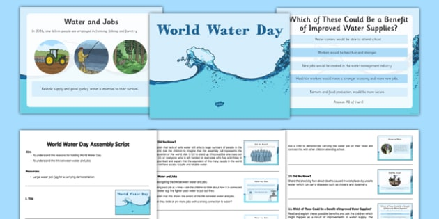 World Water Day Assembly Presentation - UN, water, hygiene, drought, water week, world water day, assembly, water day, clean water