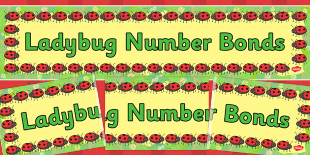 Ladybug Number Bonds Display Banner - ladybug, usa, display