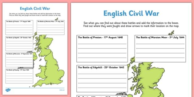 English Civil War Major Battles - naseby, Marston Moor, Edgehill, Preston, Worcester