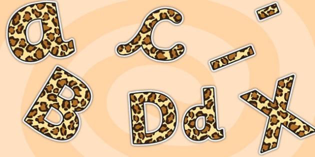 Leopard Pattern Display Lettering (Small) - safari, safari lettering, safari display lettering, leopard lettering, leopard pattern lettering, leopard
