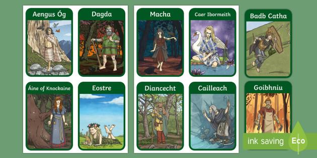 Irish Celtic Gods Flashcards-Irish