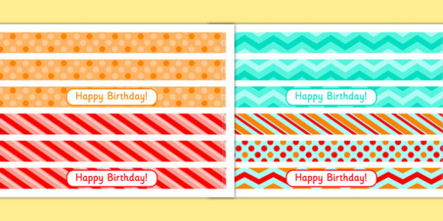 4th Birthday Party Cake Ribbon - 4th birthday party, 4th birthday, birthday party, cake ribbon