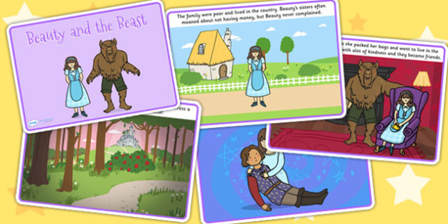 Beauty and the Beast Story - traditional tales, stories, books