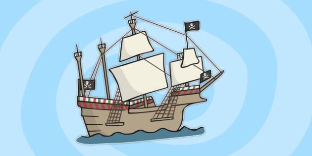 Sailing Ship Cut Out - sailing, ship, cut out, sailing ship, cut