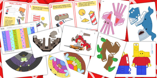 Holiday Paper Model Resource Pack - holidays, summer holidays, parents