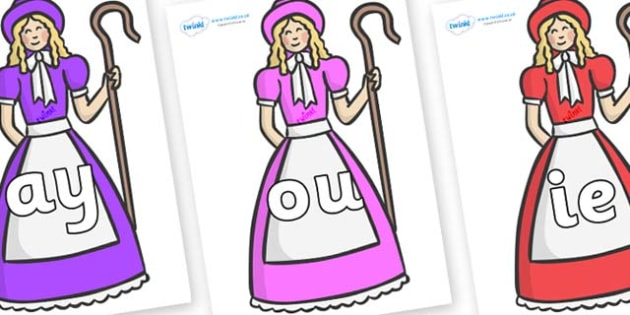 Phase 5 Phonemes on Little Bo Peep - Phonemes, phoneme, Phase 5, Phase five, Foundation, Literacy, Letters and Sounds, DfES, display