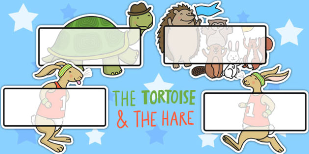 The Tortoise and The Hare Editable Self Registration - name tags