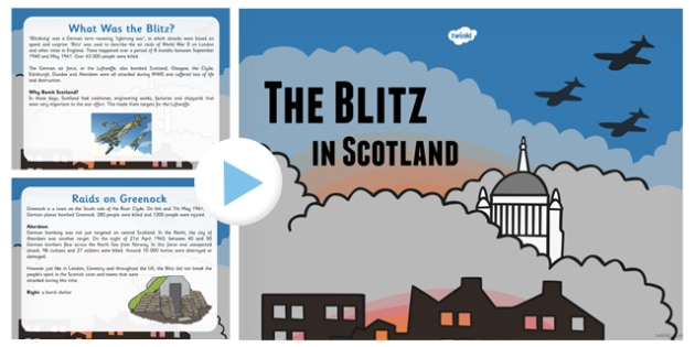 The Blitz in Scotland PowerPoint - the blitz, scotland, powerpoint