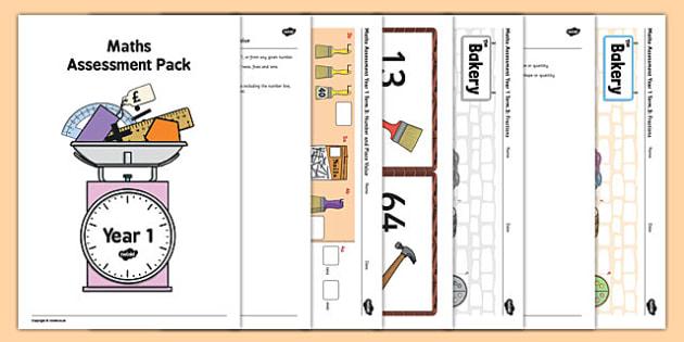 Year 1 Maths Assessment Pack Term 3 - year 1, maths, assessment, pack, term 3