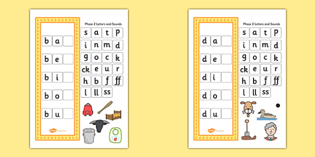 CVC Word Activity Pack Including Phase 2 Letters and Sounds