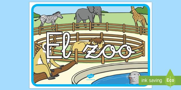 Cartel: El zoo - Decoración de la clase, el zoo, cartel, poster
