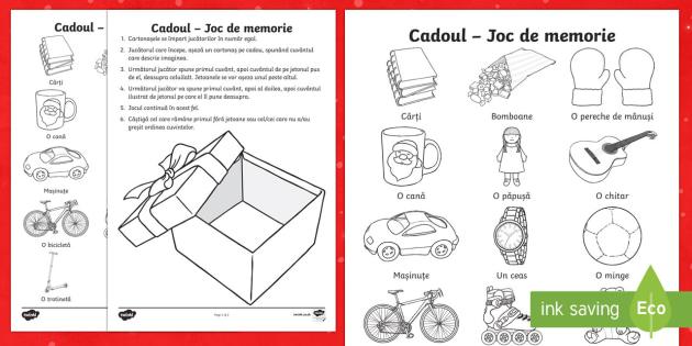 Cadoul Joc de memorie - crăciun, moș craciun, joc, memorie, sfantul nicolae, mos nicolae, materiale, materiale didactice,